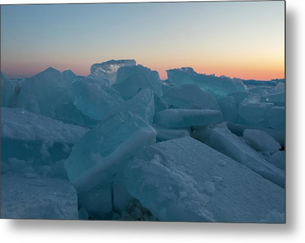 Mackinaw City Ice Formations 2161808 Metal Print