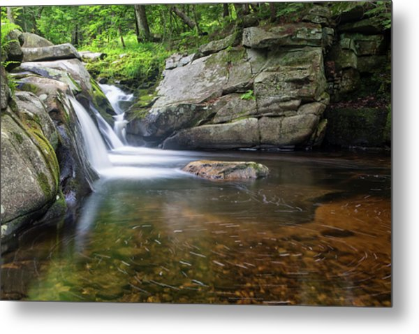 Mad River Falls Metal Print