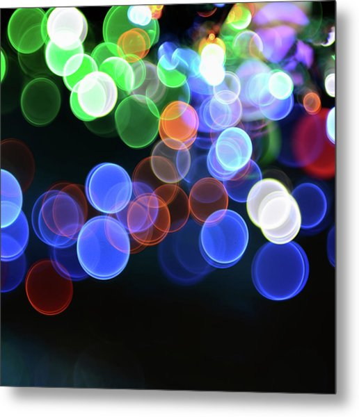 Magical Lights Background Metal Print by Alubalish