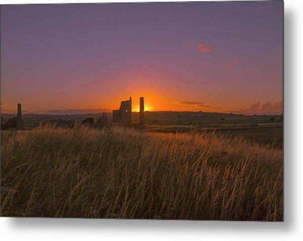 Magpie Mine Sunset Metal Print