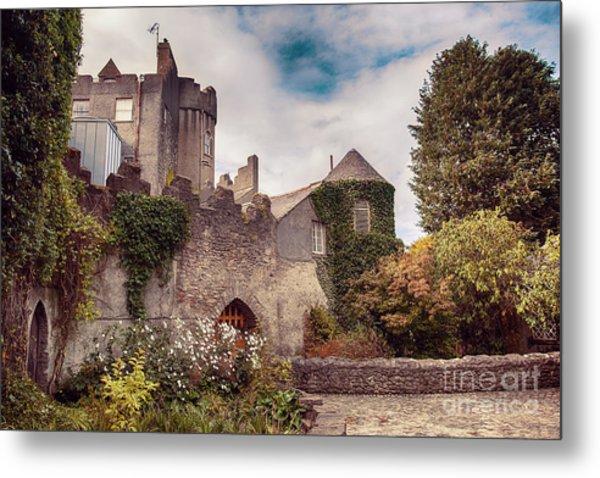 Malahide Castle By Autumn  Metal Print