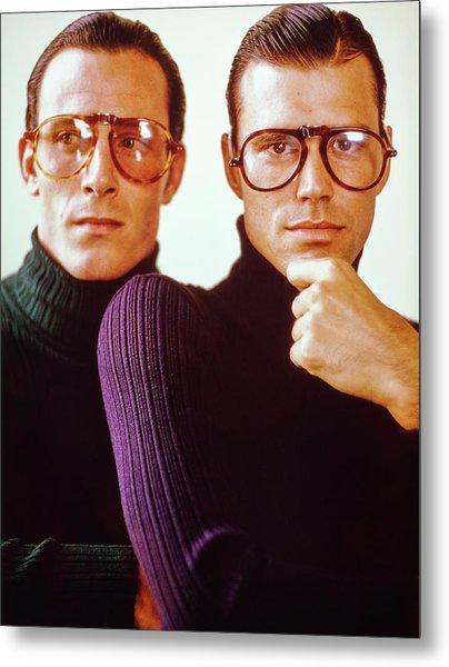 Male Models Wearing Folding Eyewear Metal Print by Barry McKinley