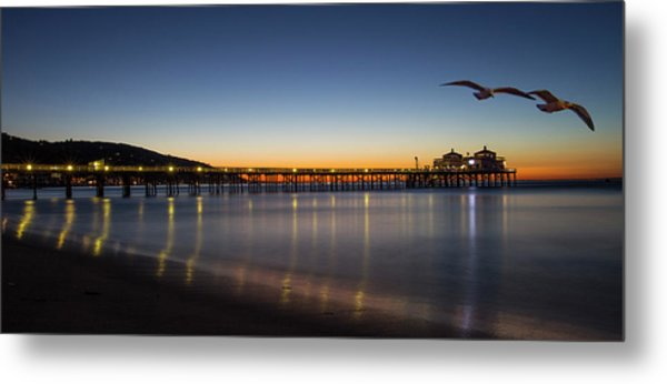 Malibu Pier At Sunrise Metal Print