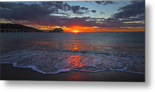 Malibu Pier Sunrise Metal Print