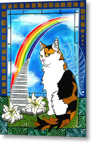 Mama Turtle - Cat Painting Metal Print