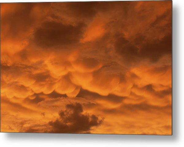 Mammatus Clouds Metal Print