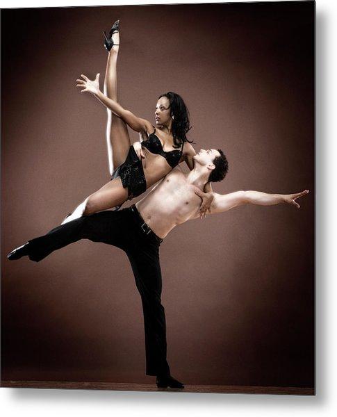 Man And Woman Dancing Metal Print