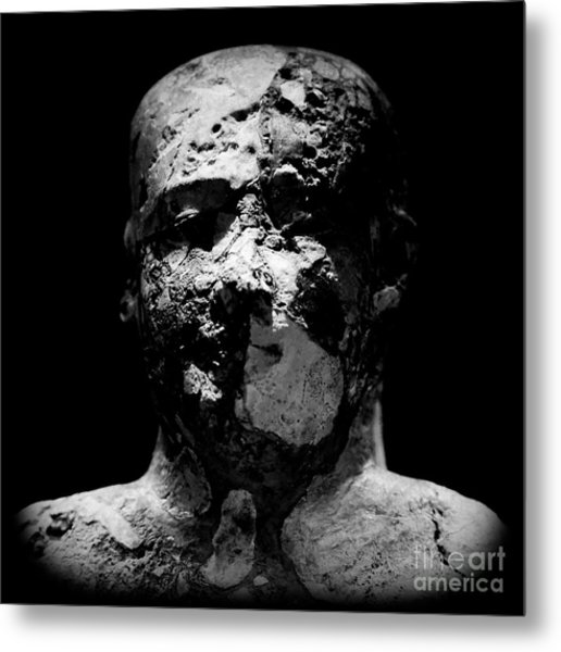 Metal Print featuring the photograph Man In Decay by Sue Harper