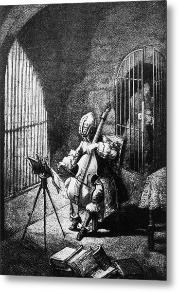 Man In The Iron Mask Metal Print by Hulton Archive
