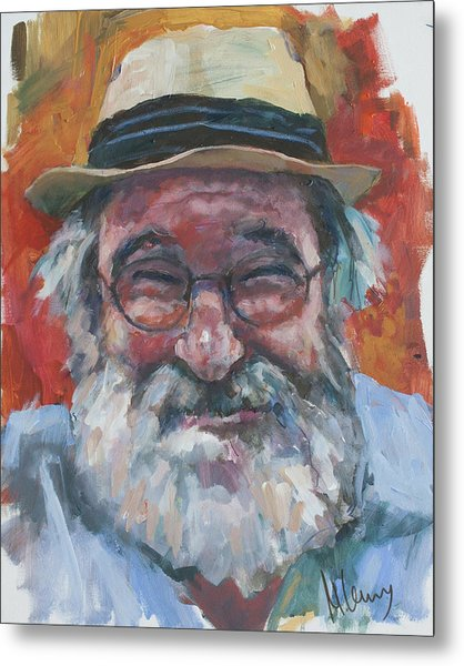 Man With Yellow Hat Metal Print