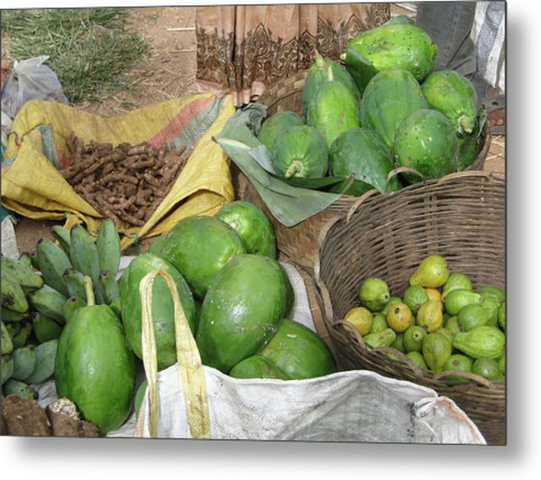 Mangos, Turmeric And Green Bananas  Metal Print