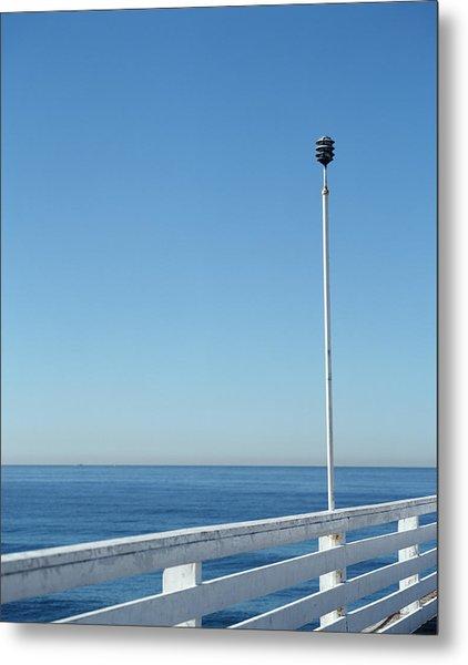 Manhattan Beach Pier, California, Usa Metal Print