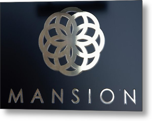 Colours. Mansion Black Metal Print