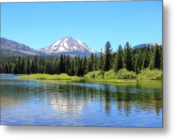 Manzanita Lake Reflection 1 Metal Print