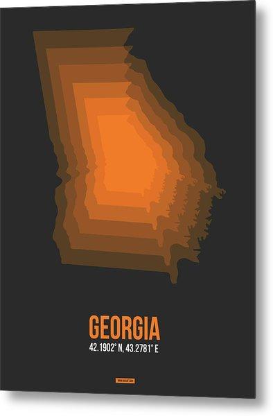 Map Of Georgia 4 Metal Print
