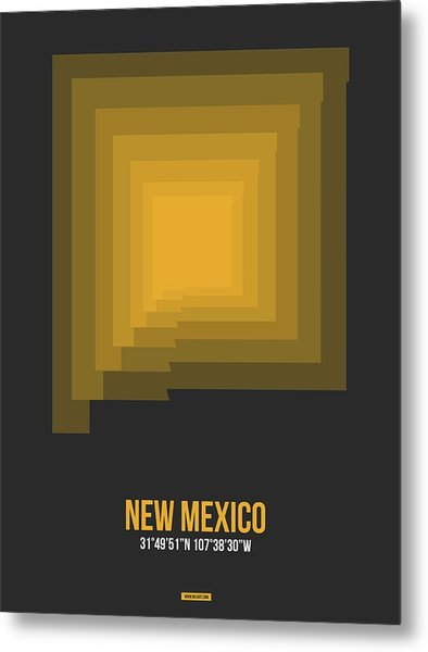 Map Of New Mexico 1 Metal Print