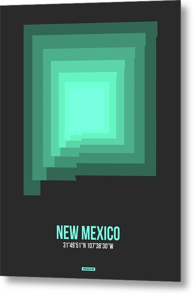 Map Of New Mexico 3 Metal Print
