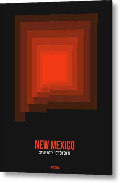 Map Of New Mexico 4 Metal Print