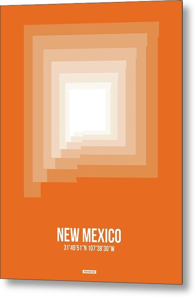 Map Of New Mexico Metal Print