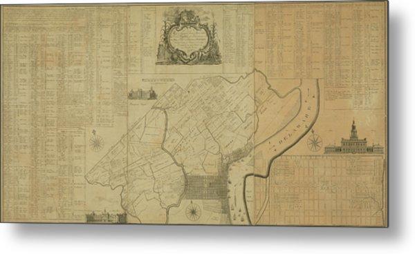 Map Of Philadelphia, Pennsylvania 1774 Metal Print