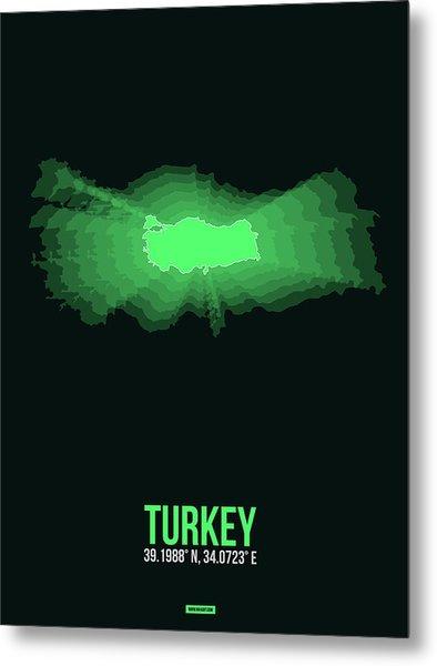 Map Of Turkey 2 Metal Print