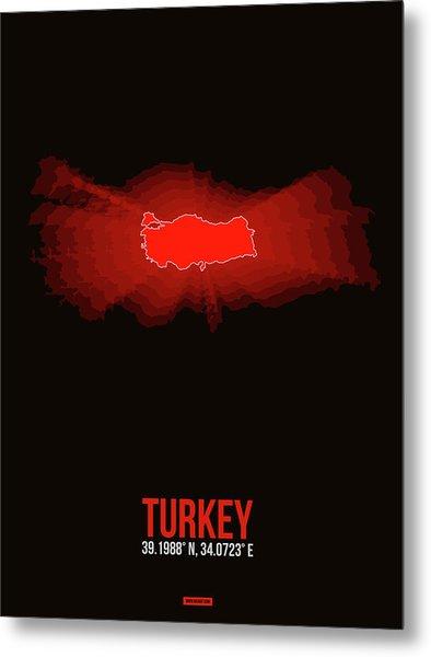 Map Of Turkey Metal Print