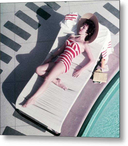 Mara Lane At The Sands Metal Print by Slim Aarons