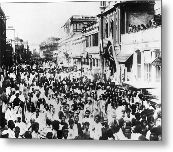 March For Home Rule Metal Print by Hulton Archive