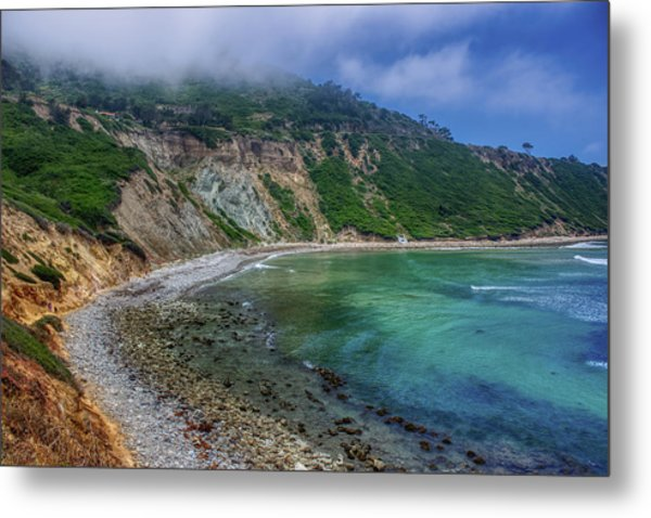 Marine Layer Over Bluff Cove Metal Print