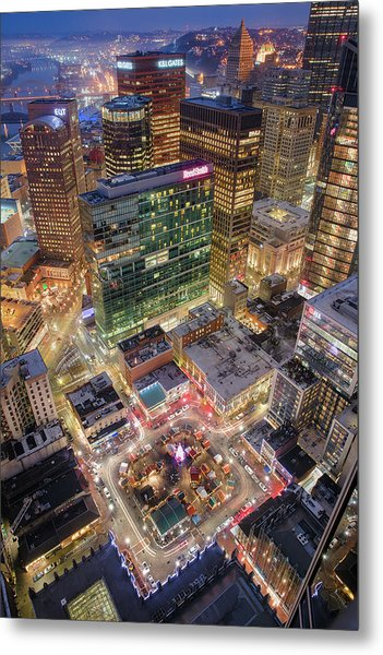 Market Square From Above  Metal Print