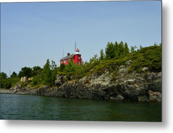 Marquette Michigan Lighthouse Metal Print