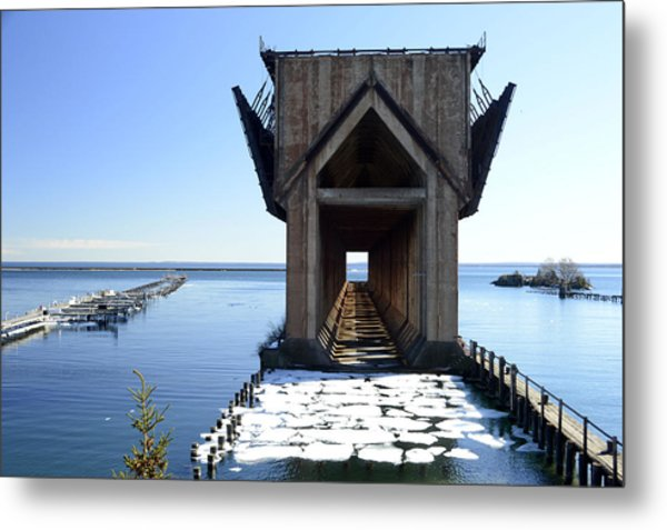 Marquette Ore Dock Cathedral Metal Print