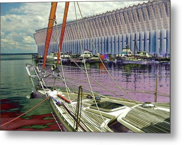 Marquette Ore Dock Lower Harbor. Metal Print