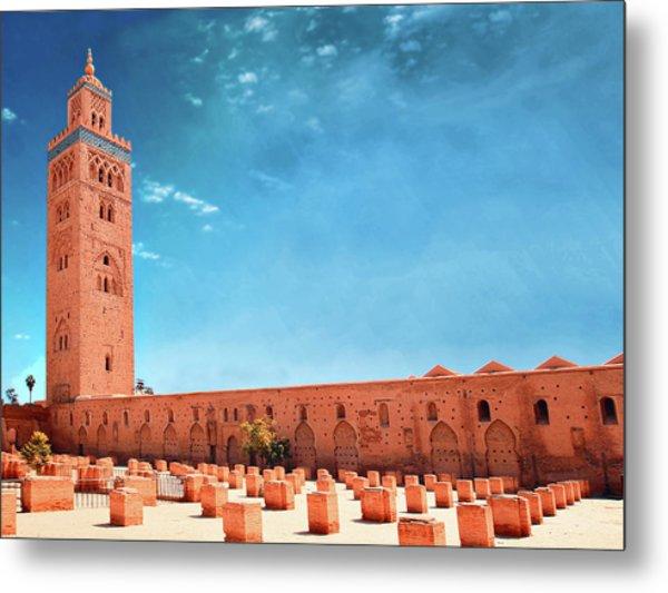 Marrakech, Koutoubia Mosque Metal Print by Alberto Manuel Urosa Toledano