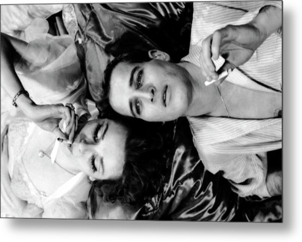 Married Actors Joanne Woodward And Paul Metal Print