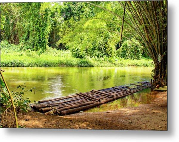 Martha Brae River Bamboo Rafting Metal Print