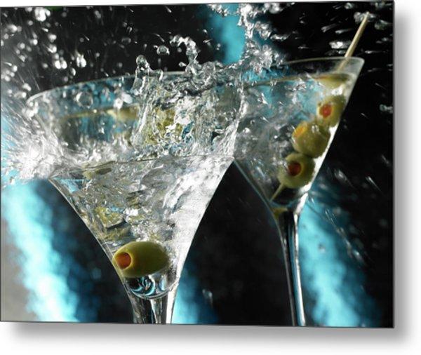 Martini Wild Splash Metal Print by Triton21
