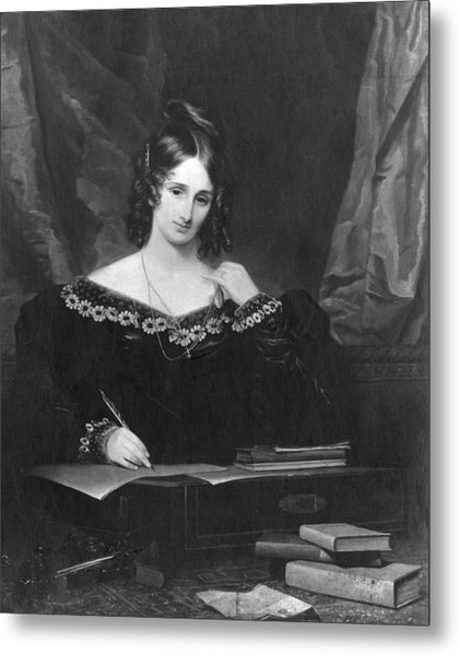 Mary Shelley Metal Print by Hulton Archive