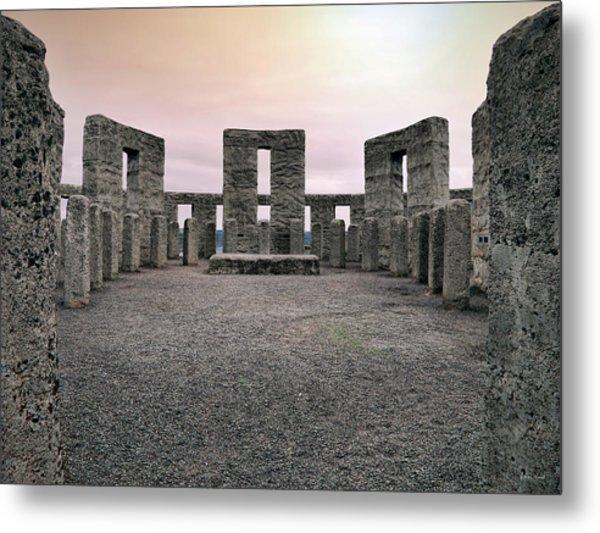 Maryhill Stonehenge Metal Print by Leland D Howard