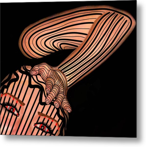 Mask Dont Hold Me Down Metal Print
