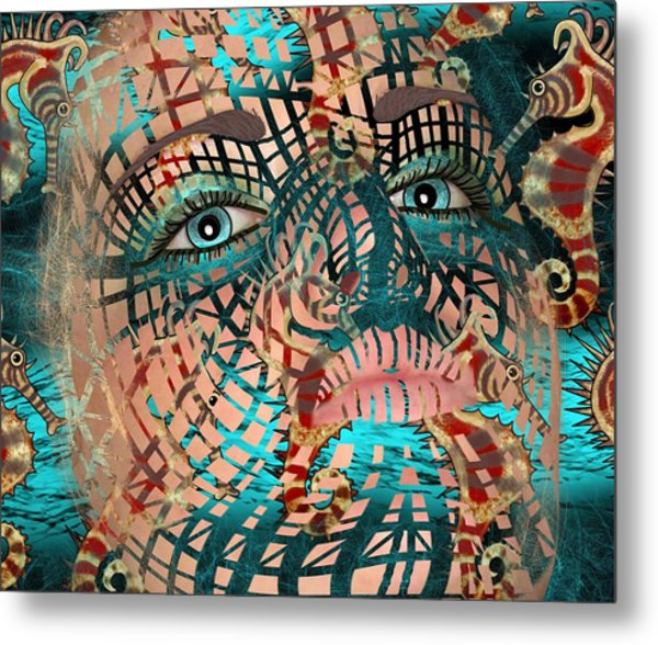 Mask Dreaming Of The Sea Metal Print