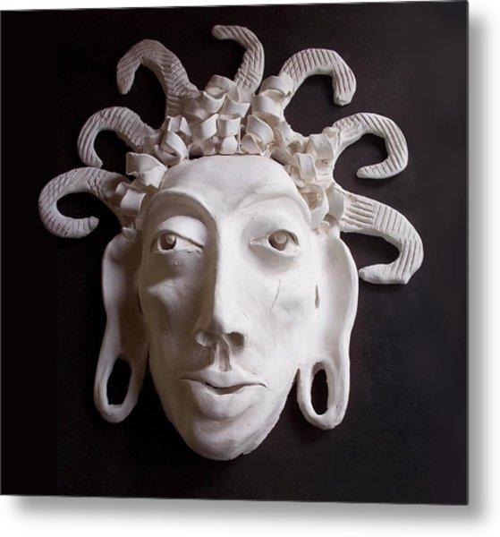 Mask The Aztec Metal Print