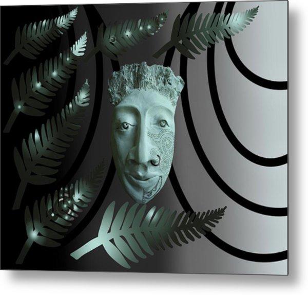 Mask The Maori Warrior Metal Print
