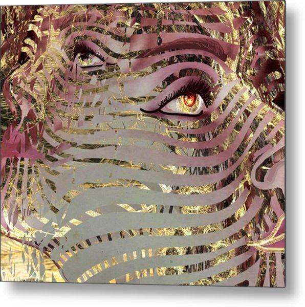 Mask What Hides 4 Metal Print