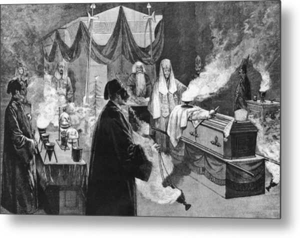 Masonic Ritual Metal Print by Hulton Archive