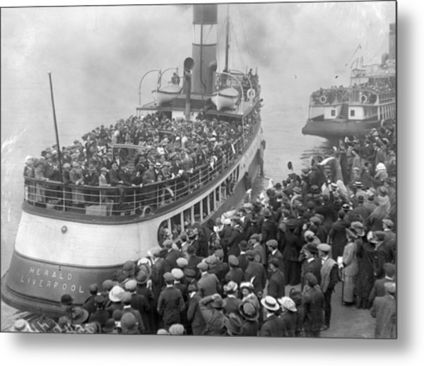 Mass Emigration Metal Print by Topical Press Agency