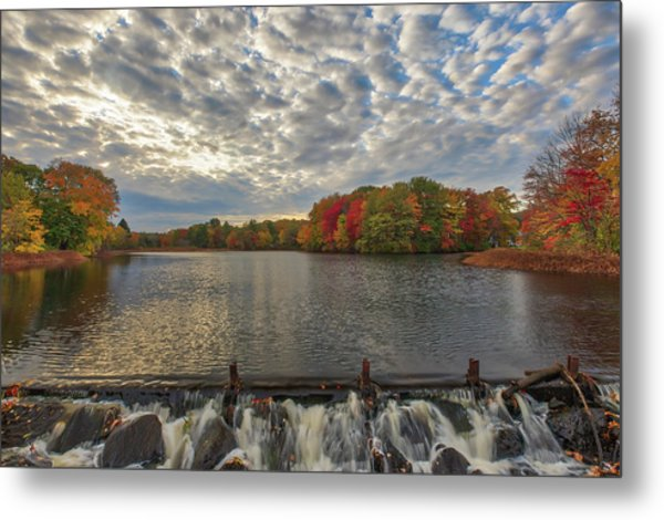 Metal Print featuring the photograph Massachusetts Fall Foliage At Mill Pond by Juergen Roth