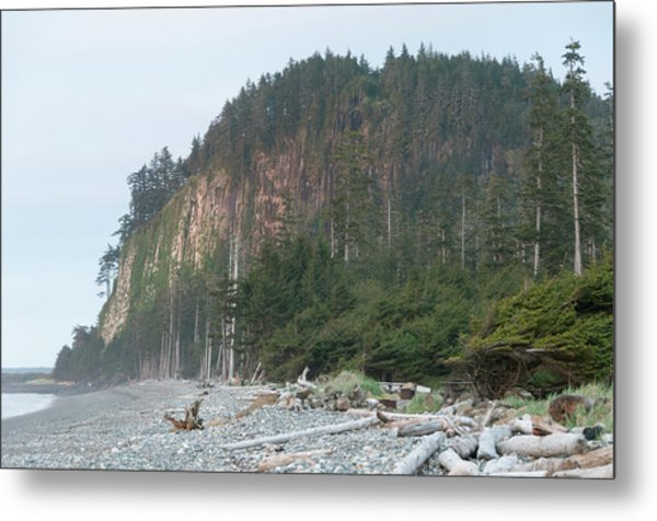 Masset Tow Hill From Agate Beach Metal Print