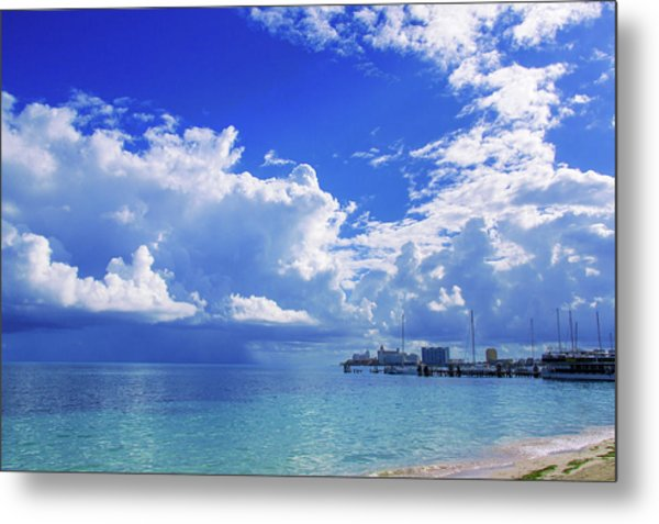 Massive Caribbean Clouds Metal Print