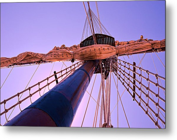 Mast And Sails Metal Print